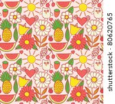 cute seamless pattern with... | Shutterstock .eps vector #80620765