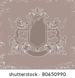 heraldic emblem with the lions... | Shutterstock .eps vector #80650990