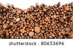 Raw De Barked Pine Wood Logs In ...