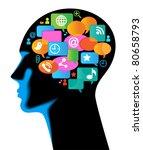 media human mobile.the... | Shutterstock .eps vector #80658793