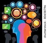 social media sing.the... | Shutterstock .eps vector #80658796