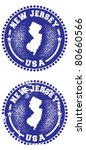 New Jersey USA Stamps - stock vector