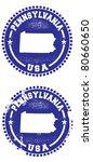 Pennsylvania USA Stamps - stock vector