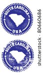 South Carolina USA Stamps - stock vector