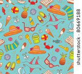 bright summer seamless pattern | Shutterstock .eps vector #80669188