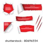 torn paper set | Shutterstock .eps vector #80696554