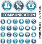 commuication buttons  icons ... | Shutterstock .eps vector #80705881