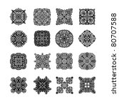 black ornament collection over... | Shutterstock . vector #80707588