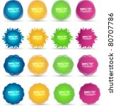 colorful sale stickers and... | Shutterstock .eps vector #80707786