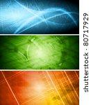 set of vibrant hi tech banners. ... | Shutterstock .eps vector #80717929