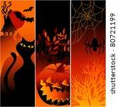three halloween banners | Shutterstock . vector #80721199