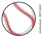 baseball ball | Shutterstock .eps vector #80721604
