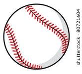 baseball ball | Shutterstock .eps vector #80721604