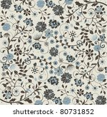 Floral Seamless Pattern  Vecto...