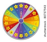 wheel of fortune for game | Shutterstock .eps vector #80737543