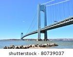 the verrazano narrows bridge ... | Shutterstock . vector #80739037