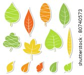 Set Of Leaves. Vector...