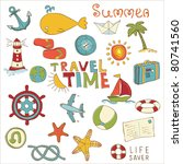 summer holiday doodle collection | Shutterstock .eps vector #80741560