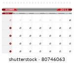 planning calendar  december... | Shutterstock .eps vector #80746063
