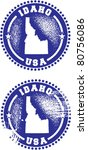 Idaho State USA Distressed Stamps - stock vector