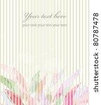 vector flower background...   Shutterstock .eps vector #80787478