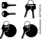 set of keys. stencil. third... | Shutterstock .eps vector #80796076