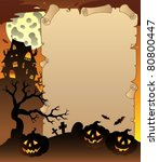 parchment with halloween topic... | Shutterstock .eps vector #80800447