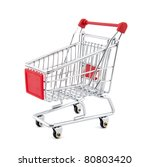 shopping cart with clipping path | Shutterstock . vector #80803420