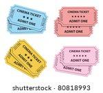 cinema tickets collection.... | Shutterstock .eps vector #80818993