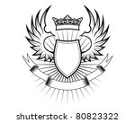 heraldry elements with wings... | Shutterstock . vector #80823322