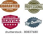 professional service vintage... | Shutterstock .eps vector #80837680