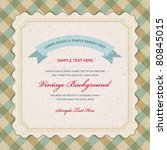 vintage invitation greeting... | Shutterstock .eps vector #80845015