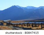 oil pipeline on the north slope ... | Shutterstock . vector #80847415