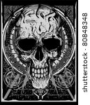 bone head   Shutterstock .eps vector #80848348