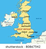 map of the united kingdom of...   Shutterstock .eps vector #80867542