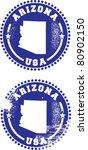 Arizona USA Stamps - stock vector