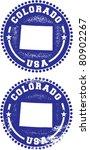 Colorado USA Stamps - stock vector
