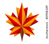 origami maple leaf | Shutterstock .eps vector #80908189