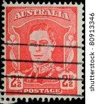 australia   circa 1942  a stamp ...   Shutterstock . vector #80913346