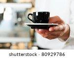 coffeeshop   barista presents... | Shutterstock . vector #80929786