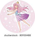 cute happy princess dancing... | Shutterstock .eps vector #80930488