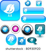 bird vector glossy icons. | Shutterstock .eps vector #80930920