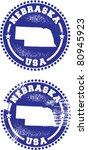 Nebraska USA Stamps - stock vector