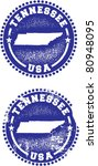 Tennessee USA Stamps - stock vector