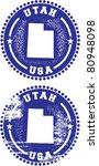 Utah USA Stamps - stock vector