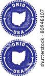 Ohio USA Stamps - stock vector