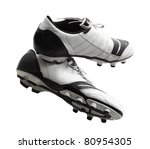 Old soccer shoes, football boots, cleats, cleet - stock photo