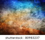 Grunge Color Texture  Blue And...