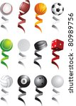sports balls with various...   Shutterstock .eps vector #80989756