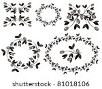 decor with olive branches. | Shutterstock .eps vector #81018106